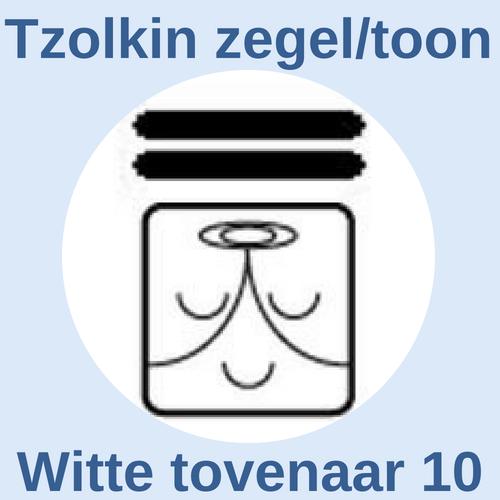 Tzolkin zegel en toon Witte tovenaar 10